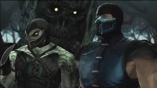 MK9 Subzero Reptile COMBOS 2014 (without effects,split screen)