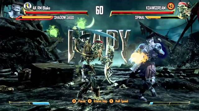 KDAWGDREAM (Spinal) vs. AK RM Blake (Shadow Jago), Ranked Match - Killer Instinct - KI