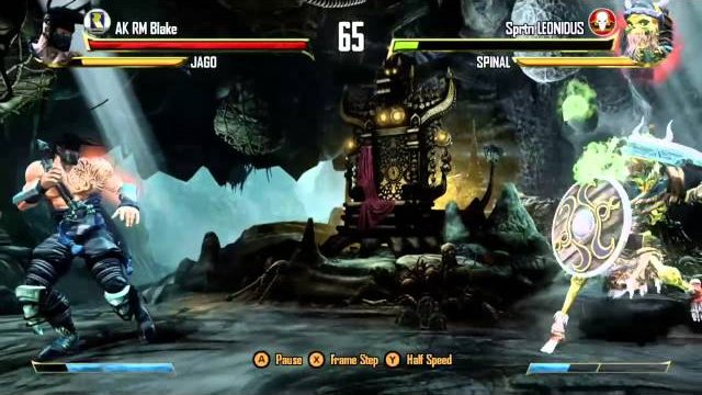 Sprtn LEONIDUS (Spinal) vs. AK RM Blake (Jago), Ranked Match - Killer Instinct - KI