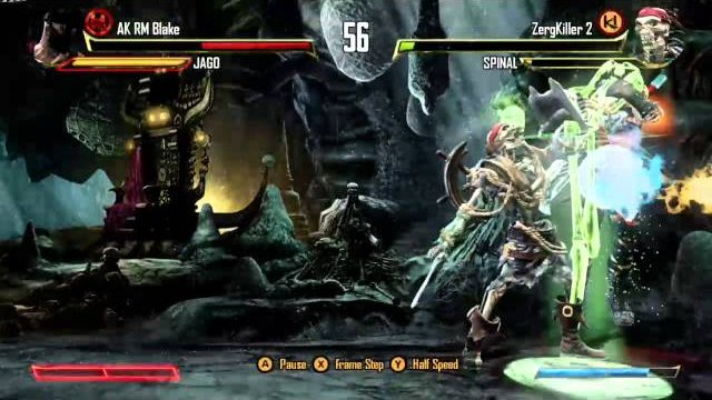 ZergKiller 2 (Spinal) vs. AK RM Blake (Jago), Ranked Match - Killer Instinct - KI