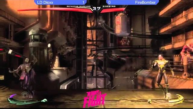 Grand Finals LD Dioxx (MMH) Vs Firebomber (Sinestro) - Drinks&Fight Tournament Series Injustice