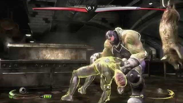Injustice (PS4) Online Casuals: Compbros (Supes/Bane) vs. ANBUSasukePro (Sinestro) - 12/23/14