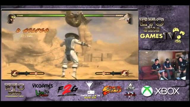 ETCCHILE GAMES TV: Kunlechuga (Cyrax) VS ETC Mcfly (Raiden) FT3 Pool diving match