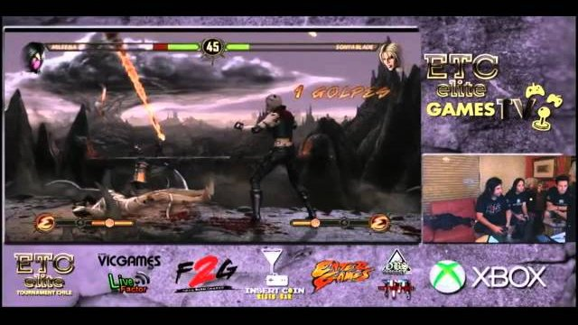 ETCCHILE GAMES TV: ETC Cazuela (Mileena) VS Black Rebel (Sonya) FT3 Pool Match
