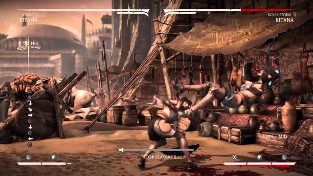 Mortal Kombat X: Kitana 60% One Bar Assassin Corner Combo