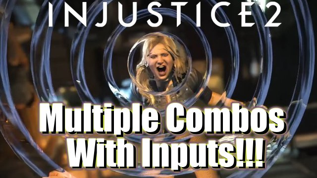 Injustice 2 Black Canary Combos (With Inputs and Slow Motion) | Injustice 2