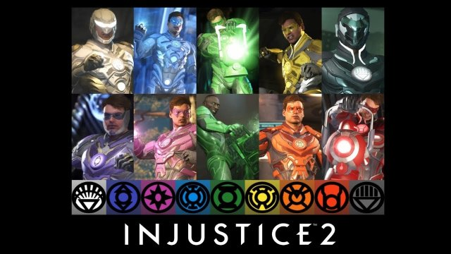 Injustice 2 - All Lantern Corps Colors Shaders/Epic Gear Showcase