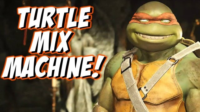 MICHAELANGELO TURTLE MIX MACHINE! | TMNT Injustice 2 Online Sets