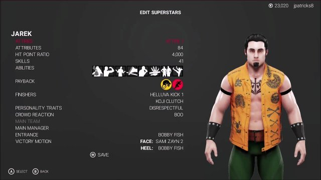 WWE 2K19 - Mortal Kombat - Jarek Showcase