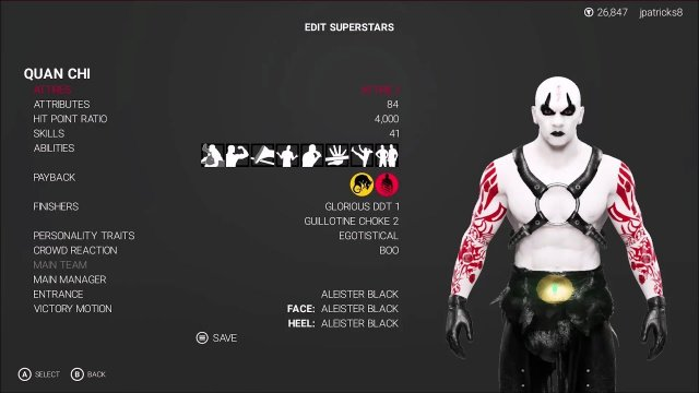 WWE 2K19 - Mortal Kombat - Quan Chi Showcase