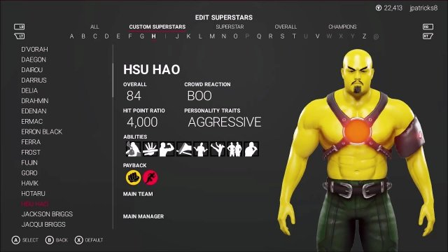 WWE 2K19 - Mortal Kombat - Hsu Hao Showcase